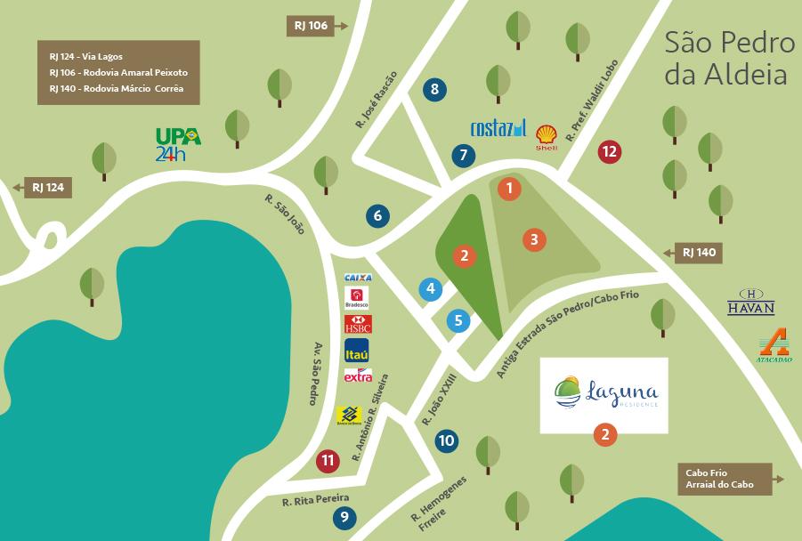 mapa laguna residence